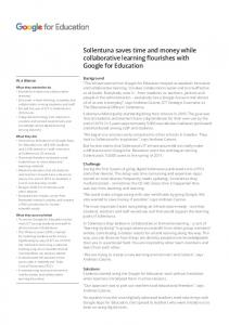 Sollentuna saves time and money while collaborative learning ...