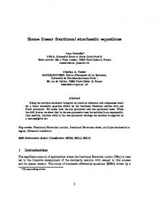 Some linear fractional stochastic equations