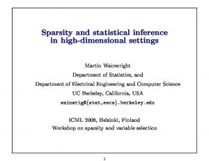 Sparsity and statistical inference in high-dimensional ...