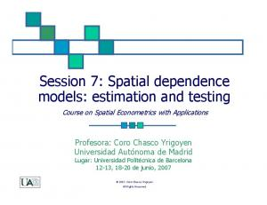 Spatial dependence models: estimation and testing -