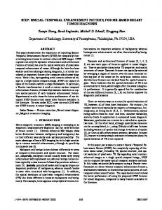 Spatial-Temporal Enhancement Pattern, for MR-based ... - IEEE Xplore