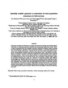 Spatially explicit approach to estimation of total ...