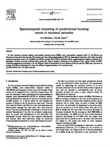 Spatiotemporal clustering of synchronized bursting ...