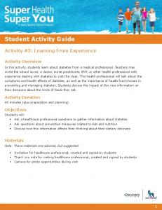 Student Activity Guide - Super Health Super You