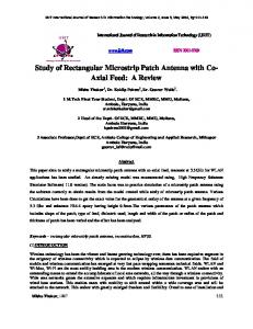 Study of Rectangular Microstrip Patch Antenna with Co - International ...