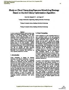 Study on Cloud Computing Resource Scheduling Strategy Based on ...