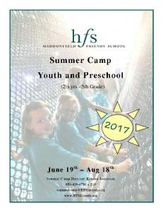 Summer Camp 2017 Youth and Preschool registration packet.pdf ...