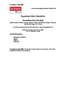 Supporting Online Material for - Science