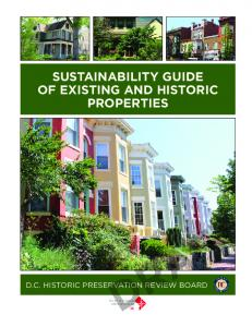 sustainability guide of existing and historic properties - DC Office of ...