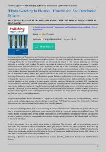Switching-In-Electrical-Transmission-And-Distribution-Systems.pdf ...