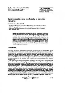 Synchronization and modularity in complex networks
