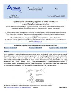 Synthesis and antimitotic properties of orthosubstituted ... - Arkivoc