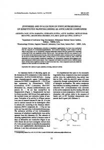 synthesis and evaluation of ethylnitrosoureas of ...