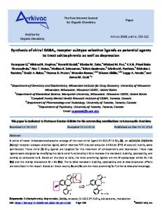 Synthesis of chiral GABAA receptor subtype selective ligands ... - Arkivoc