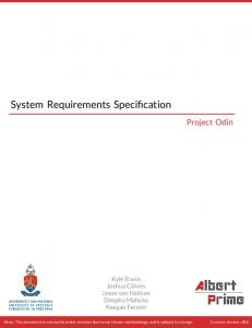 System Requirements Specification - GitHub
