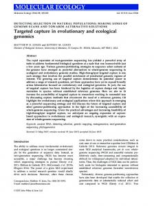 Targeted capture in evolutionary and ecological ... - Wiley Online Library