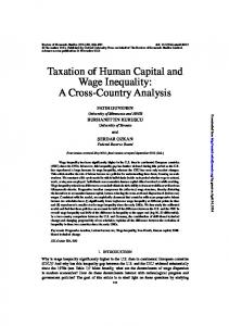 Taxation of Human Capital and Wage Inequality: A ... - Fatih Guvenen