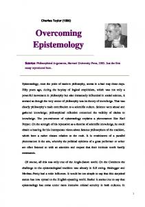 Taylor, Overcoming Epistemology.pdf