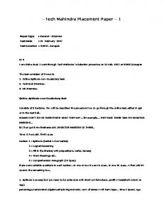 Tech Mahindra Placement Paper 1.pdf