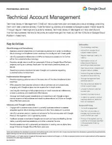 Technical Account Management  Services