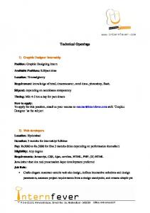 Technical Openings -