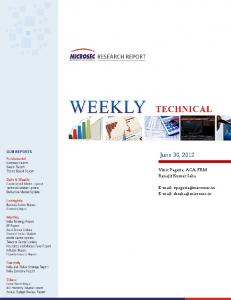 Technical View Technical View Weekly Report -
