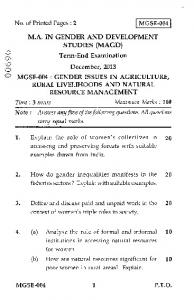 Term-End Examination \-D December, 2013 MGSE-004