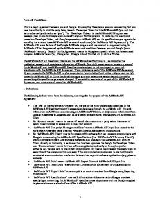 Terms & Conditions This is a legal agreement between you and ...