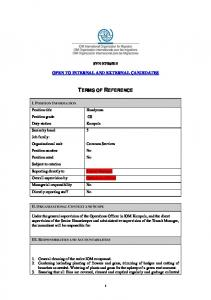 terms of reference -