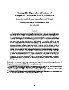 Testing the Eigenvalue Structure of Integrated ...