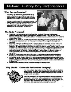 The Basic Framework What is a performance? Why Should I Choose ...