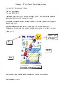 The Beacon Cover Competition 2016 - Beacon Hill School