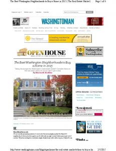 The Best Washington Neighborhoods to Buy a Home ... -