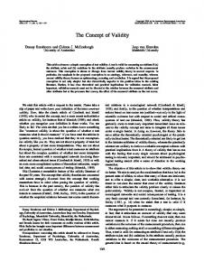 The Concept of Validity - Semantic Scholar