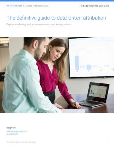 The definitive guide to data-driven attribution  Services