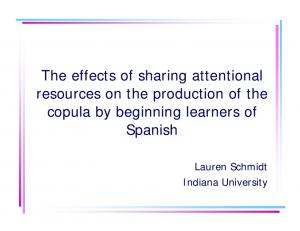 The effects of sharing attentional resources on the ...
