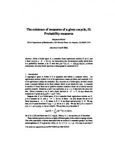 The existence of measures of a given cocycle, II ...
