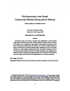 The Expansionary Lower Bound: Contractionary ...