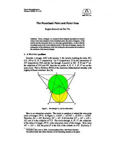The Feuerbach Point and Euler lines - Semantic Scholar