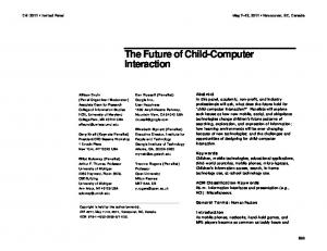 The future of child-computer interaction