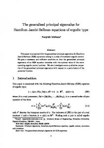 The generalized principal eigenvalue for Hamilton ...