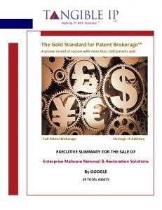 The Gold Standard for Patent Brokerage  services