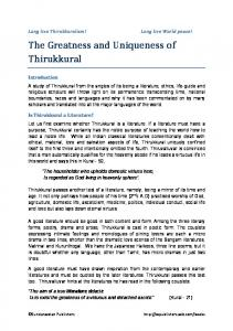 The greatness and uniqueness of Thirukkural.pdf