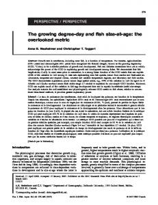 The growing degree-day and fish size-at-age: the overlooked metric