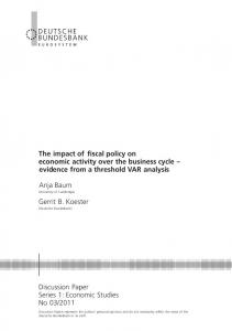 The impact of fiscal policy on economic activity over the ... - Core