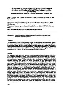 The influence of local and regional factors on the ...