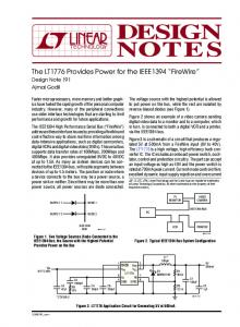 The LT1776 Provides Power for the IEEE1394 ... - Analog Devices