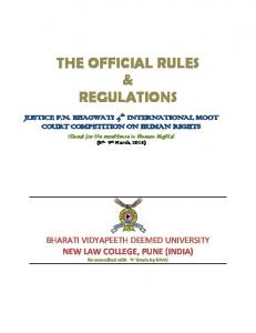 the official rules & regulations -