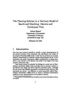 The Planning Solution in a Textbook Model of ... - Semantic Scholar