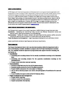 The Project Development Intern role is an entry level ... -